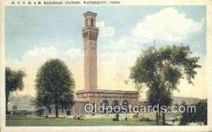 NY, NH & H Railroad Station, Waterbury, CT, Connecticut, USA Depot Postcard, ...