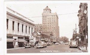 Washington Walla Walla Main Street Business Section Real Photo sk610