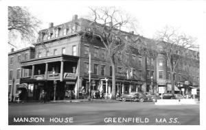 Greenfield MA Community Center (Mansion House) Marchman's c1950 RPPC