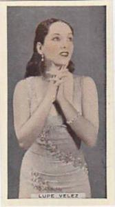 R & J Hill Vintage Cigarette Card Cinema Celebrities No 7 Lupe Velez  1936