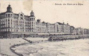 Belgium Oostende Les Hotels de la Diguer 1909