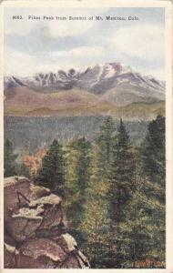 Pikes Peak From Summit Of Mt. Manitou, Colorado, PU-1934
