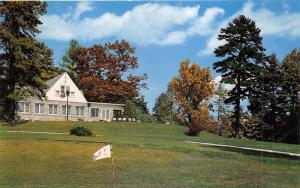 Hendersonville North Carolina~Club House View from Golf Course~1950s Postcard