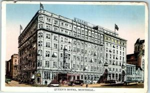 Montreal, Quebec Canada Postcard QUEEN'S HOTEL Street View Dated 1929