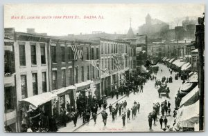 Galena Illinois~Main Street South @ From Perry~Boys Band~Stores~DA Callahan~1908