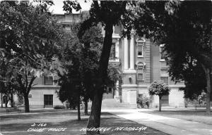 Holdrege Nebraska~Court House Showing Grand Entrance Through Trees~1950s RPPC