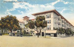 Pasadena California~Hotel Maryland~Candy Stripe Awnings~Vintage Autos~1920s PC