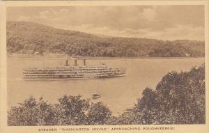 Steamer Washington Irving Appoaching Poughkeepsie Albertype