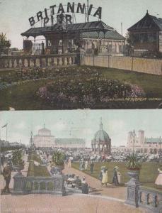 Great Yarmouth Norfolk Brittania Pier + Gardens 2x Postcard s
