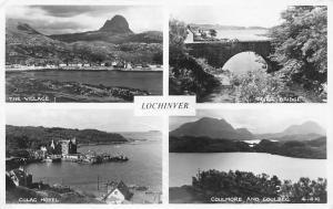 Lochinver The Village Culag Hotel, Coulmore Inver Bridge Lake Panorama