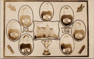 Club Ste Marie Hockey Club 1927 Montreal QC Quebec St. Anne College Postcard G68