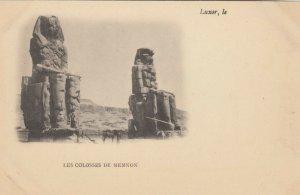LUXOR, Egypt, 1900-10s; Les Colosses de Memnon