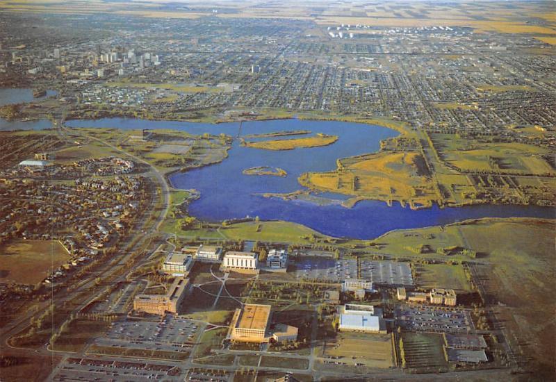 Canada University of Regina Saskatchewan Aerial view