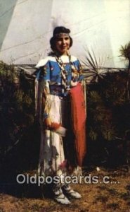 Indian Maiden Indian Postcard, Post Card Color by Mike Roberts Unused