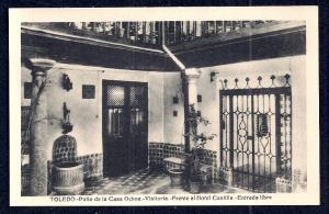 Hotel Castilla Casa Ochoa Patio Toledo Spain unused c1920's