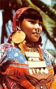 Typical Indian Woman San Blas Panama Tape on back