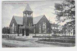 ANTIQUE POSTCARD KANSAS CHANUTE METHODIST CHURCH EXTERIOR VIEW 1907