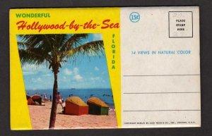 FL Hollywood by the Sea Florida Souvenir Postcard Folder 14 Veiws