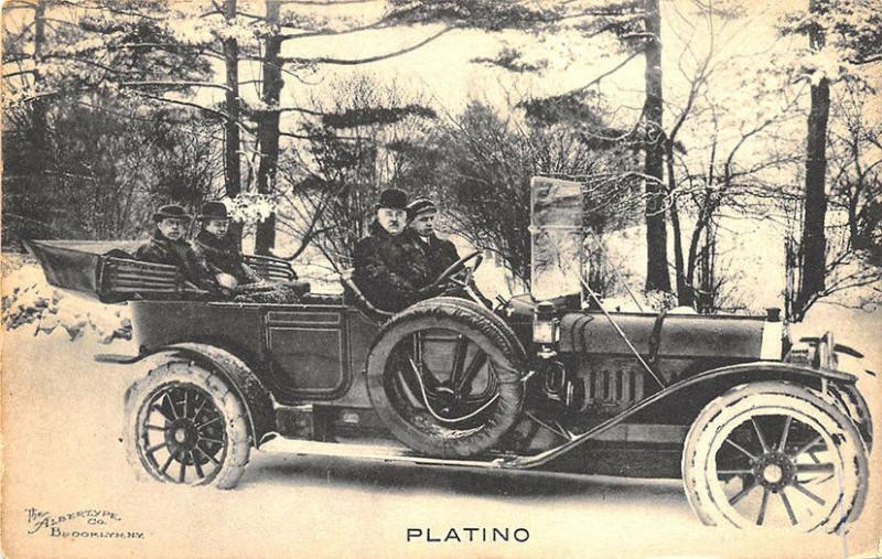 Platino Automobile Published by The Albertype Co. Brooklyn NY Postcard