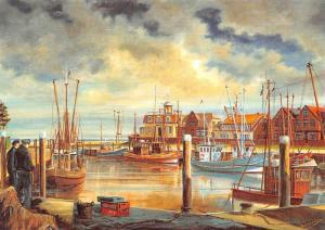 Am Katterhafen von T.H. Gronewold, Harbour Bateaux Port
