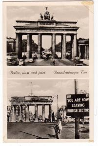 RPPC, Berlin, einst und jetzt - Brandenburger Tor