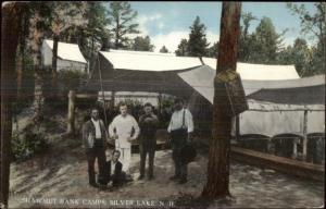 Silver Lake NH Shawmut Bank Camps c1910 Postcard