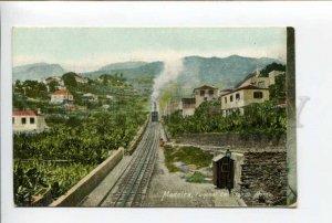 424424 PORTUGAL MADEIRA Funchall TRAIN mountain lift Vintage postcard