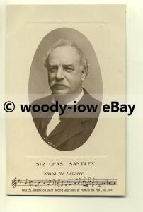 su1408 - Opera Singer - Sir Charles ( Chas ) Santley - Postcard
