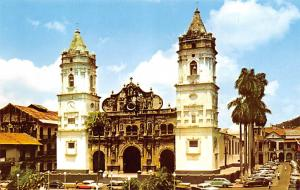 Panama Old Vintage Antique Post Card Cathedral of Panama City Tape on back