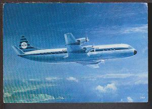 KLM's Lockheed Prop-Jet Electra Airplane Postcard BIN