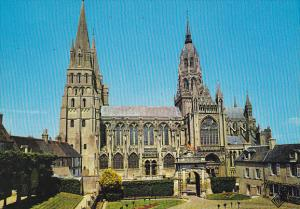 France Bayeux La Cathedrale facade laterale