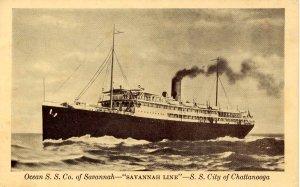 Ocean Steamship Co of Savannah - Savannah Line, SS City of Chattanooga