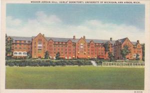 Michigan Ann Arbor Mosher Jordan Hall Girls' Dormitory University Of Michigan...
