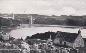 Wales Anglesey Llansilio Church & Suspension Bridge