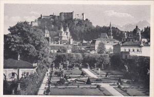 Austria Salzburg Mirabellgarten mit Festung