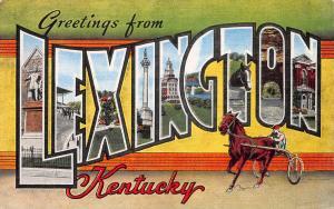 Greetings from Lexington, Kentucky, Early Postcard, Unused