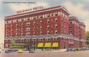 FORT SMITH, Arkansas, 1930-40s; Goldman Hotel, Classic Cars