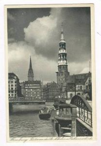 RP, Partie An Der St. Nikolai-u Catharinenkirche, Hamburg, Germany, 1920-40s