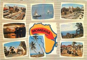Kenya souvenir Postcard Mombasa different views