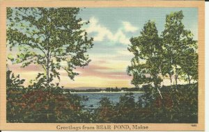 Greetings From BEAR POND, Maine