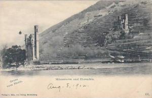 Gruss Vom Rhein, Mauseturm Und Ehrenfels, Rhineland-Palatinate, Germany, 1900...