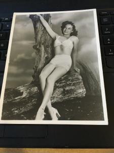 Vintage Actress Bathing Beauty Susan Hayward photo Postcard 5-1/2x7