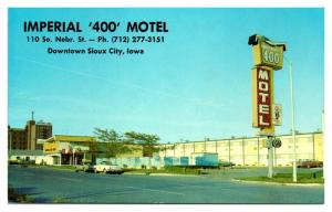 1960s Imperial 400 Motel, Downtown Sioux City, IA Postcard *5N10