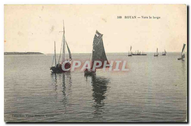 Old Postcard Royan To Large Boats