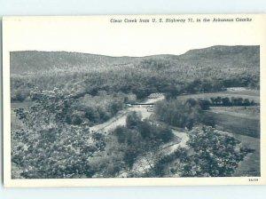 1940's NATURE SCENE Clear Creek - Fort Smith In Ozarks Arkansas AR AD3541