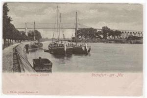 Bateaux Pont de Jonnay Charente Rochefort sur Mer France postcard