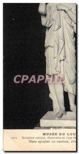 Old Postcard Paris Louvre Museum Diane stapling his coat called Diana of Gabii