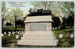 Chattanooga Tennessee~National Cemetery~Andrews Raiders Monument~Locomotive~1910