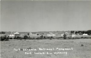 Fort Laramie Wyoming~National Monument~1950s Postcard RPPC