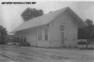 Huntsville Texas Railroad Depot Real Photo Antique Postcard K73234